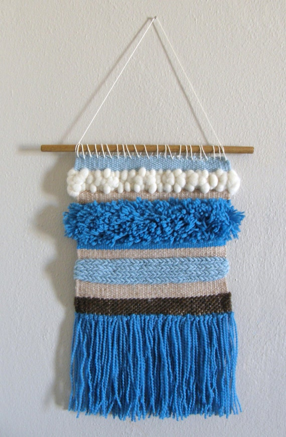 Wall Art Loom Kit : Weaving kit with loom for wall art river rise blue