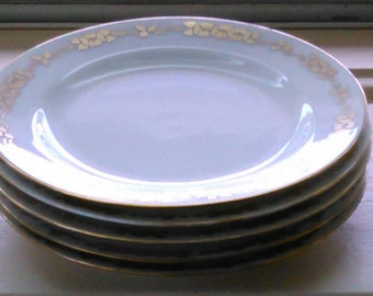 Gold and White Haviland Dessert Plates Set of 5