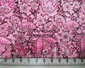 CUSTOM Pink/Brown Floral  Minky