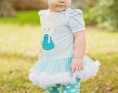 Baby Leg Warmers Turquoise with White Polka Dots Baby Girl Toddler
