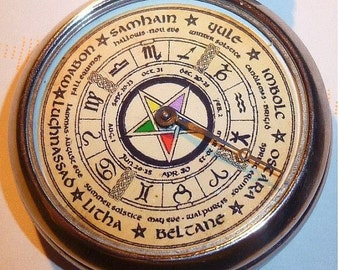 Reduced...VINTAGE Wiccan Witchcraft Pentagram Fortune pocket watch game