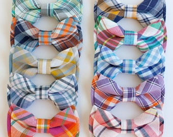 Bow Tie, Bow Ties, Bowties, Boys Bow Ties, Baby Bow Ties, Bowties, Ring Bearer, Bow ties For Boys, Ties - Organic Madras Plaid Collection