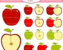 ON SALE apple clip art clipart - Digital clip art  for all use, apples clip art, instant download clip art
