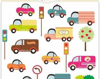 ON SALE cars clipart - vehical clipart - Digital clipart, cars set, instant download, clipart cartoon car