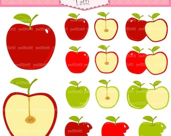 ON SALE apple clip art clipart - Digital clip art  for all use, apples clip art, instant download clip art