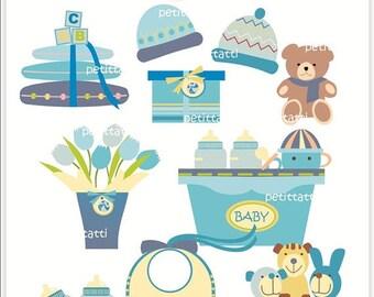 ON SALE Digital clip art - baby, card making, scrapbooking, baby boy , instant download digital clip art