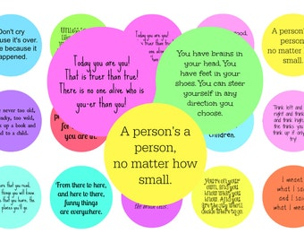 Dr Seuss Quotes - 1 inch circles
