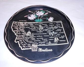 Metal Tray Montana Serving Tray, Decorative