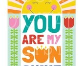 RESERVED for shinckle - You Are My Sunshine Poster Digital Download