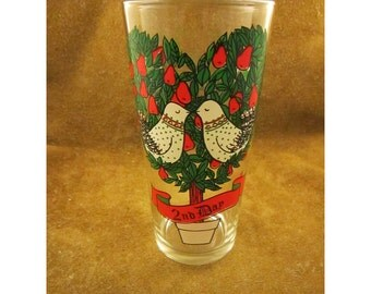 2nd Day of Christmas – Turtle Doves - Twelve Days of Christmas Collection – Partridge in a Pear Tree Song – Vintage Christmas Glass - Pepsi