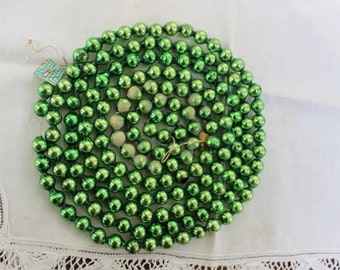 """Mercury Glass Garland Beads Christmas  OLD  Green 85"""" VINTAGE by Plantdreaming"""