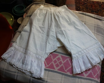 Victorian Bloomers Under Garment  Lace Antique French Lingerie VINTAGE by Plantdreaming