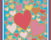 PDF Download - Hearts - An Original Cross Stitch Design, from the Artwork of Maureen Mace