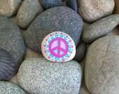 Peace Rock Pin