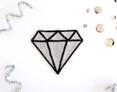 Glitter Diamond Patch - Silver
