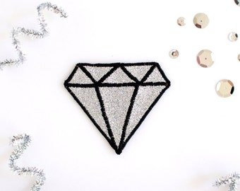 Glitter Diamond Patch - Silver