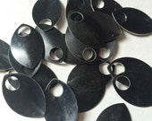 100 Black Large Anodized Aluminum Scales  for Scalemaille and Chainmaille
