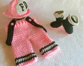 Baby Firefighter Outfit - Firefighter Baby Girl - Baby Fire Firefighter - Princess - Fireman - Firefighter Princess - Firefighter Daddy
