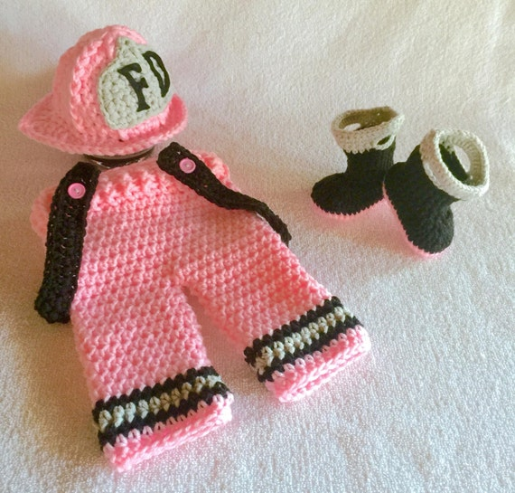 Firefighter baby girl clothes baby photo prop fireman