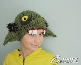 Goblin Hat, Orc Hat, Troll Hat, Alien Hat, Ogre Hat, Creature Hat, Halloween Costume, Syfy Costume, Men Women Children Clothing,