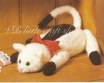 Cat knitting pattern. Instant PDF download!