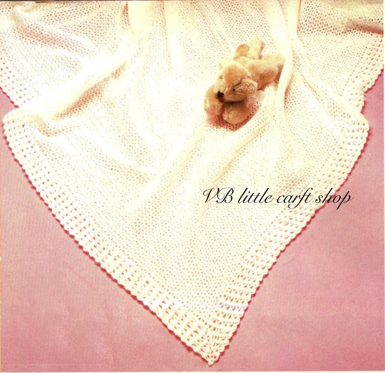 Crochet baby shawl pattern. Instant PDF download