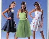 Burda 8174 UNCUT Young fashion Strappy or Strapless Sun Dress Pattern - Size 8-18