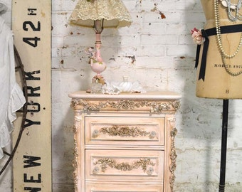 Painted Cottage Shabby Chic Romantic Night Table NT786