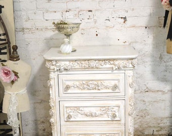 Painted Cottage Shabby Chic Romantic Painted Night Table NT791