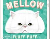 Cat Art - Marsh MELLOW -  8x10 or 11x14 Art print by Krista Brooks