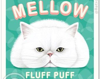 8x10 Cat Art - Marsh MELLOW - Art print by Krista Brooks