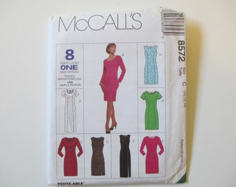 Misses' Dress Pattern in Two Lengths, Uncut, Sizes 10, 12, 14