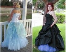 custom petticoat plus size-light blue-purple petticoat-blue petticoat-petticoat-pastel petticoat-custom made crinoline-custom made petticoat