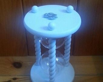 ON SALE - Heirloom Wedding Hourglass - The Seashell Wedding Hourglass Unity Sand Ceremony Hourglass ™
