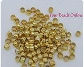 Crimp Bead 2mm Gold Plated 100 pcs Excelent Quality