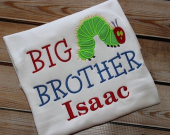 Big Sister, Little Sister, Big Brother, Little Brother Sibling Shirt Caterpillar