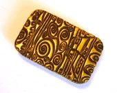 LARGE Size Klimt Design Slide Top Tin Black and Gold Stunning Purse Accessory Sturdy Storage Box Great Handmade Gift FREE Velvet Gift Pouch