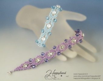 Atene, macramè bracelet pattern