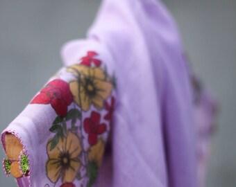 Handmade - Lacework Scarf - Turkish Scarf With Crochet Lace - Yemeni