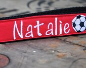 Embroidered Sports Key fob, Wristlet Keychain, Football, Cheerleading, Soccer, Baseball, Tennis, Swim Team, Softball, Basketball, Coach
