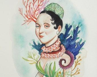 Ocean lady portrait
