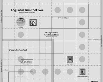 Creative Grids/Ruler/Log Cabin/Trim Tool/ 8 inch/Quilt Ruler/Quilting/Creative Grid/Non Slip Ruler/Log Cabin Ruler/Creative Grids Ruler