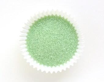 Light Green Sanding Sugar, Pale Green Sanding Sugar, Wedding Sugar (4 ounces)