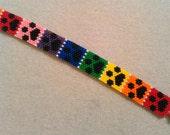Rainbow Paws Beaded Bracelet