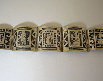 Tribal Silver Bracelet Central American