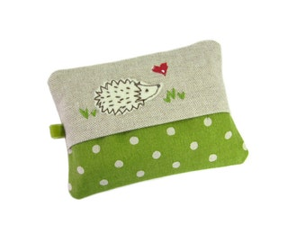 Travel Tissue Holder, Pocket Tissue Holder, Hedgehog Tissue Pouch, Mum Gift, Tissue Case, Tissue Cozy, Hedgehog Gift, Teacher Gift