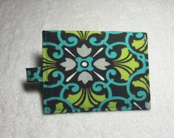 Mini wallet, fabric wallet, id wallet, id holder, train pass wallet, badge wallet, gift card holder, stocking stuffer, bus pass holder