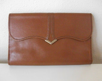Over Sized 70's Brown Leather Leather Wallet