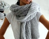 Women Scarf, Soft Scarf,  Wool Scarf, Handknitt Scarf, Christmas Gift