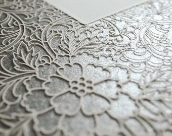 Ketubah Papercut by Jennifer Raichman - Trellis - Metallic Silver